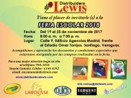 Feria Escolar 2018 en Distribuidora Lewis Provincias Centrales